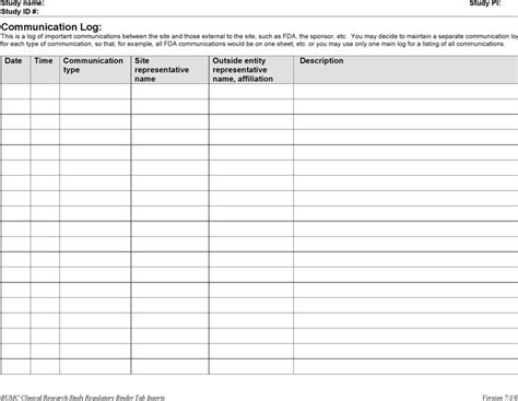 communication log template free communication log template free premium