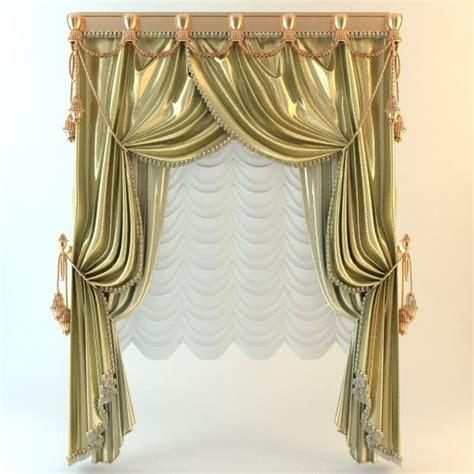 elegant drapery curtain elegant 3d 3ds