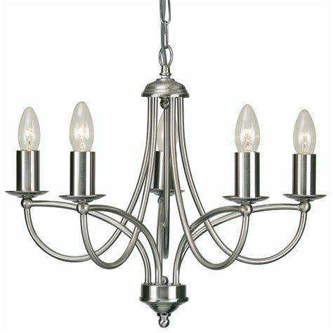 Loop 5x60w Decorative Ceiling Light Fitting Antique Chrome Chrome Ceiling Light Fitting