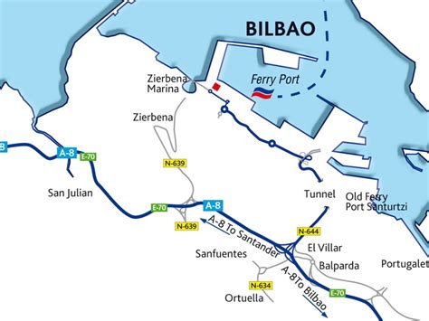 map of spain bilbao bilbao port guide ferries