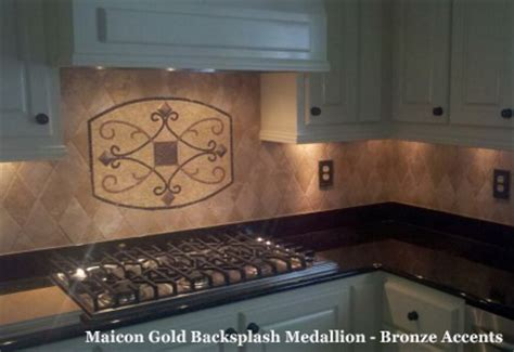 tile medallions for kitchen backsplash handmade backsplash medallions with metal accents great britain tile america s floor