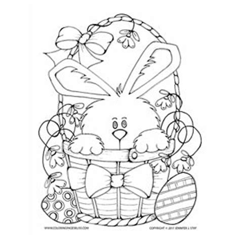 coloring pages bliss youtube bunny in basket easter coloring sheet