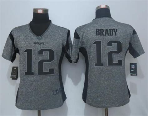 new nike patriots 12 tom brady grey gridiron limited