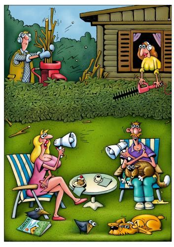 Garten Comic by Nachbarn By Kurtu Media Culture Toonpool
