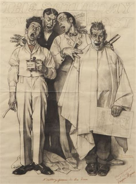 sketchbook quartet garret s drawing a day norman rockwell quot barbershop