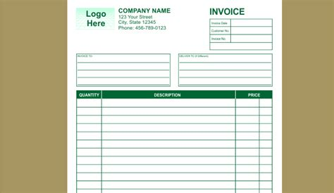 indesign invoice template free 9 best images of rent receipt template indesign