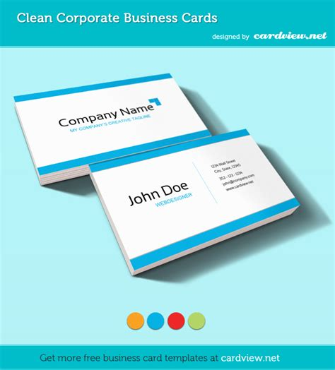 free visiting cards templates 20 free business card templates inspirationfeed
