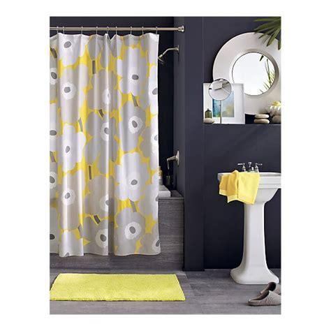 yellow and navy shower curtain marimekko unikko yellow shower curtain 60 yellow and