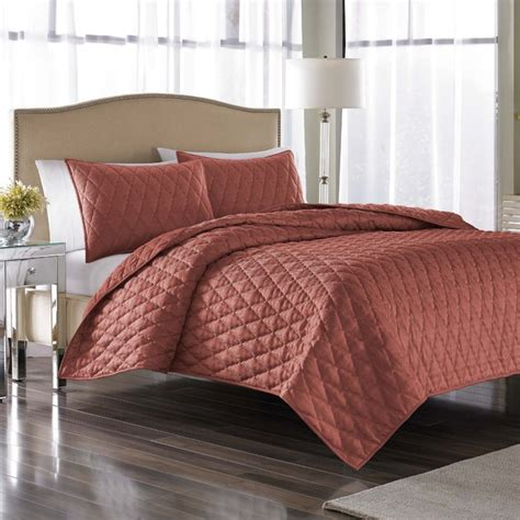 polyester coverlets nicole miller serenity coral polyester jacquard 3 piece