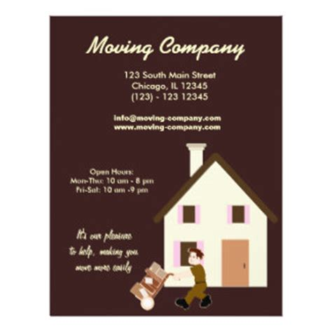 Business Moving Flyers Business Moving Flyer Templates Moving Company Flyer Template