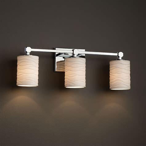 Justice Bathroom Lighting Justice Design Por 8423 Tetra Limoges 3 Light Bathroom Lighting Jus Por 8423