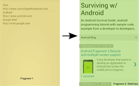 android fragment tutorial fragment in android tutorial with exle using webview