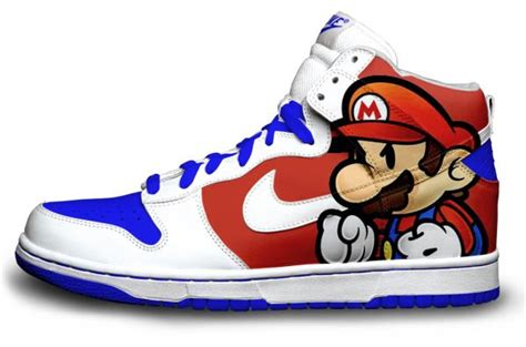 custom nike shoes for custom mario nike disneycartoonshoes