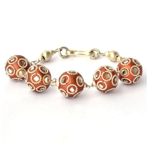 handmade bracelet shining copper with mirrors