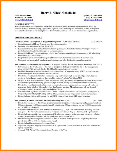 Resume Exles For Healthcare Executives 7 managerial resume objective g unitrecors
