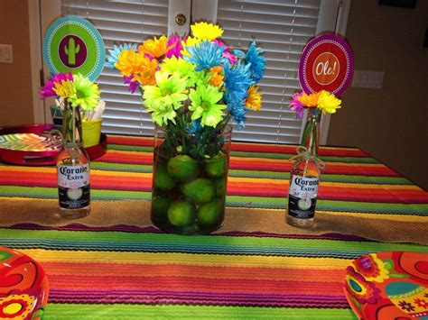 17 best ideas about mexican decorations on pinterest lime centerpiece for a mexican fiesta birthday party