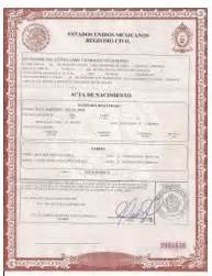 mexican marriage certificate translation template best photos of birth certificate birth