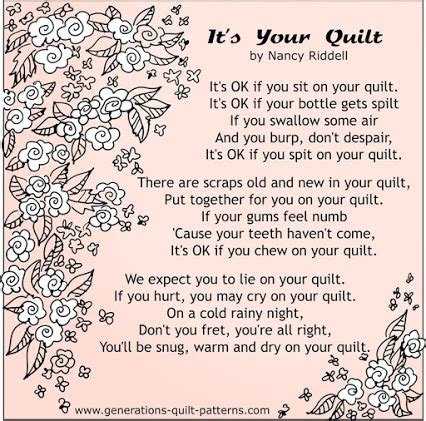 Poems About Quilting by Generations Quilt Patterns