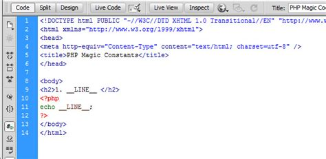 what is template in php php magic constants line tutorialchip