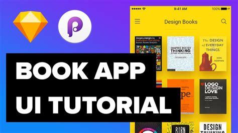 design app book book app design ui ux design and animations tutorial