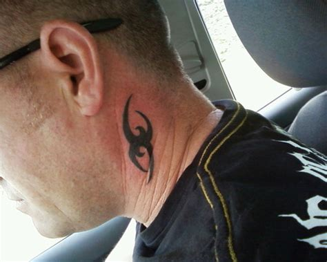 small tribal tattoo on neck for men tattooshunt com