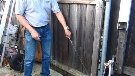 Repair Sagging gate repair