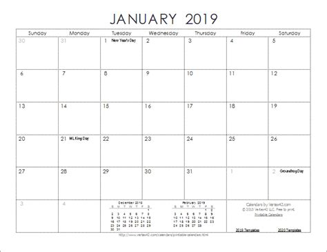 2019 Calendar Templates And Images 2019 Calendar Template Word