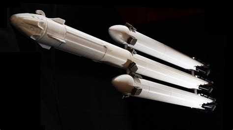Paint For Office This 3d Print Of The Spacex Falcon Heavy Comes With The