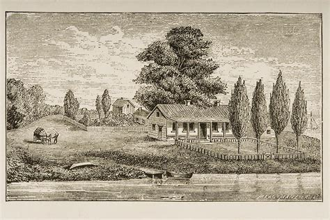 when was the first house built the first house built in chicago drawing by vintage design