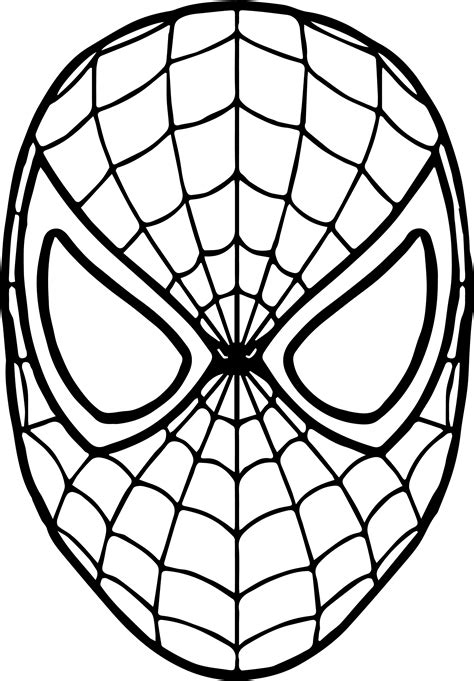 printable spider mask template drawn spider man mask pencil and in color drawn spider
