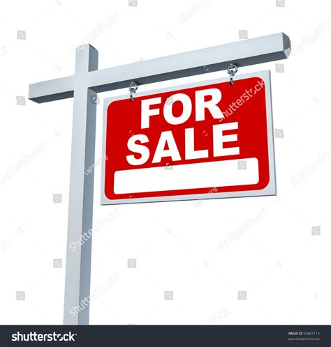 house music sle real estate red sale sign blank stock illustration 93881113 shutterstock
