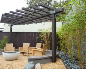 Modern Rustic Dining Room - two post pergola houzz