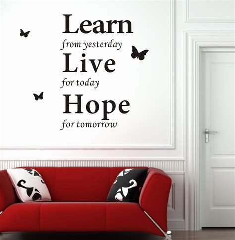 Bedroom Wall Quote Stickers modern wall decor wall decor stickers modern wall