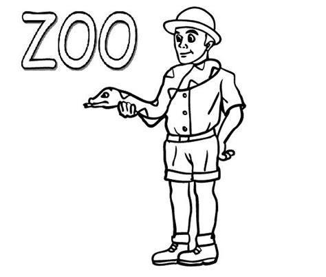coloring page of zookeeper 92 zoo coloring pages for kindergarten zoo coloring