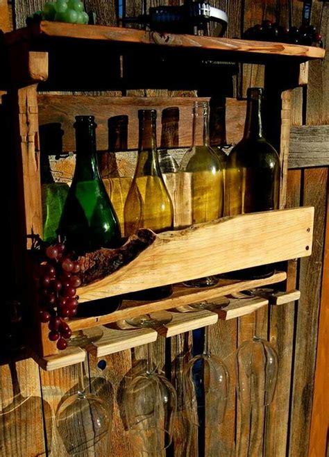 bottle repurposed wood wine rack  repurposed