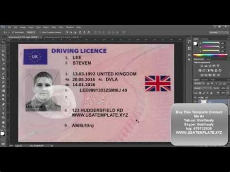 Uk Driving License Template by New Uk Driver License Template Psd 2016 Uk Passport