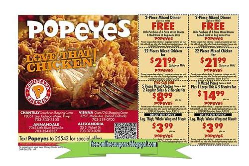 popeye chicken coupon 2018