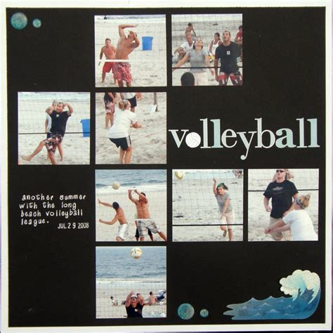 scrapbook layout ideas for volleyball beach volleyball scrapbook com scrapbook sports