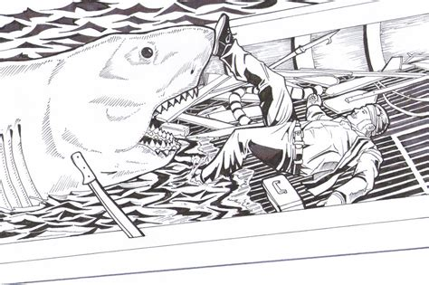 jaws death of quint by greyfoxdie85 on deviantart
