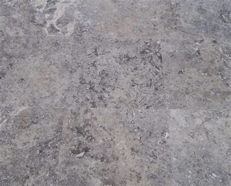 silver grey travertine paver honed and filled natural