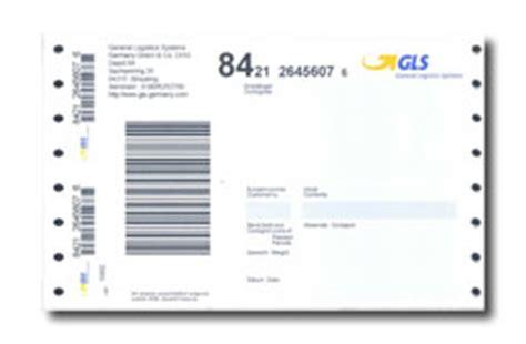 Gls Paketaufkleber Drucken by Gls Etiketten Mit Nadeldrucker Im Endlos Druck Erstellen