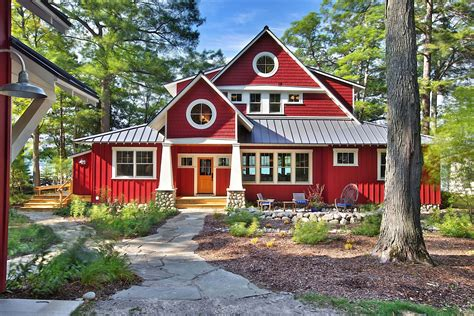 Red Roof House Design With Color Trend Home Design And Decor