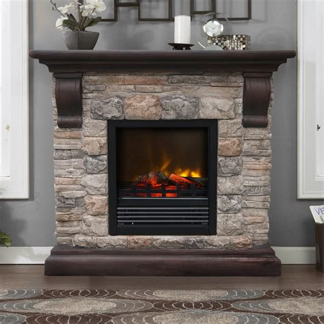 Fieldstone Fireplace Entertainment Center Wall Entertainment Center With