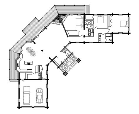 log home floor plan vista
