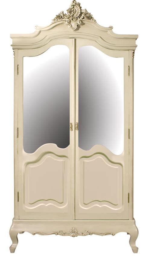 cream armoire wardrobe bergere cream shabby french chic painted wardrobe mirrored
