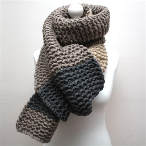 Chunky Knit Scarf grey and chunky knit scarf urbanknit