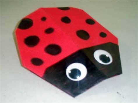 How To Make A Ladybug Out Of Paper - how to make a paper bug origami ep