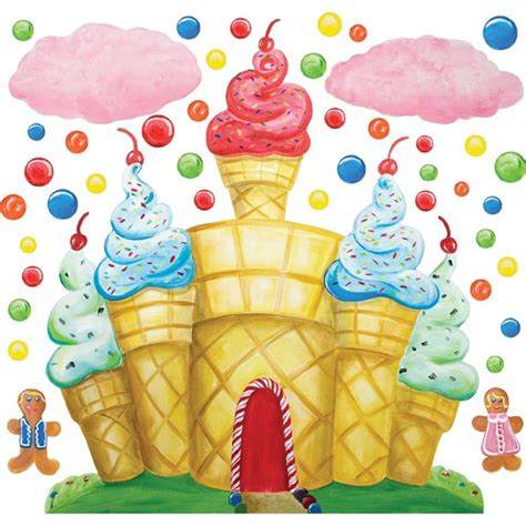 Sesame Street Wall Mural cotton candy land castle wall mural sticker
