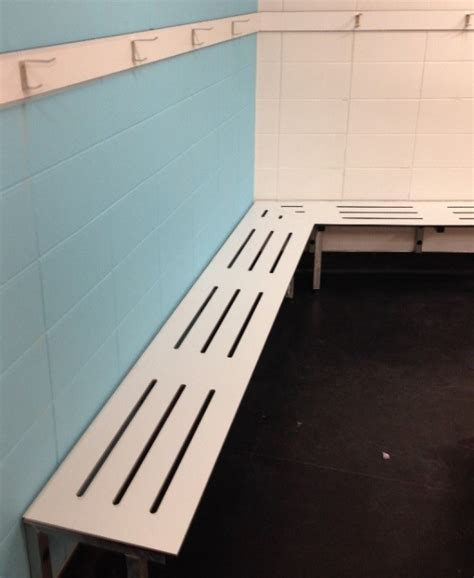 wall mounted bench seating hale manufacturing offers two change room bench options