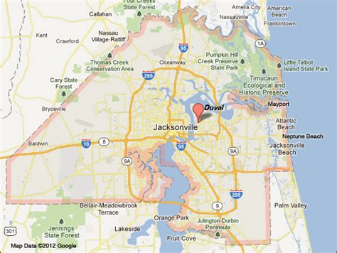 Records Duval County Fl Duval County Florida Zip Code Map